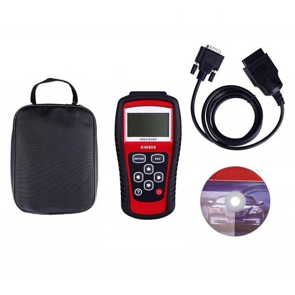 Diagnostic-tool KW808 Car Scanner EOBD OBD2 OBDII Diagnostic Live Data Code Reader Check Engine Scan for US / Asian /Europe cars