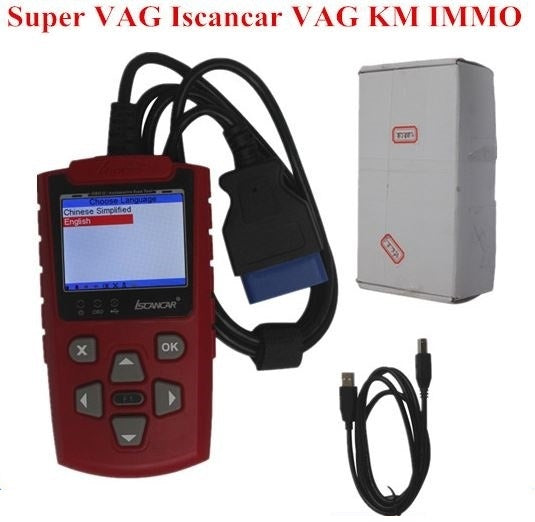 NEW Super VAG IScancar VAG KM IMMO OBD2 Code Scanner Super VAG 3.0 IScancar OBD2 Scanner Update Online for VW/AUDI