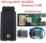 Opcom with PIC18F458 Chip OP-Com 2012V Can OBD2 Opel Firmware V1.59 OP Com Opel Opcom V1.59 CAN BUS Interface