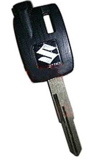 For Suzuki Burgman AN250 AN400 AN650 Magnetic Key Blank With Uncut Blade 3 Magnets - Black