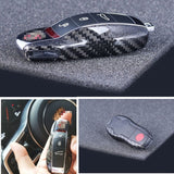 100% Real Pure DRY Carbon Fiber Car Key Case Cover Shell For Porsche Panamera 2009-2015/ Macan 2014- 2015/ Cayenne 2011-2015 - Car Diagnostic Tool