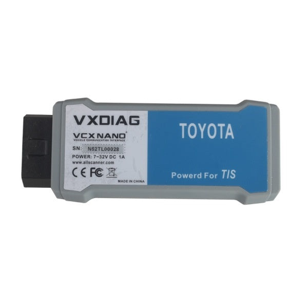 VXDIAG VCX NANO for TOYOTA TIS Techstream V10.30.029 Compatible with SAE J2534