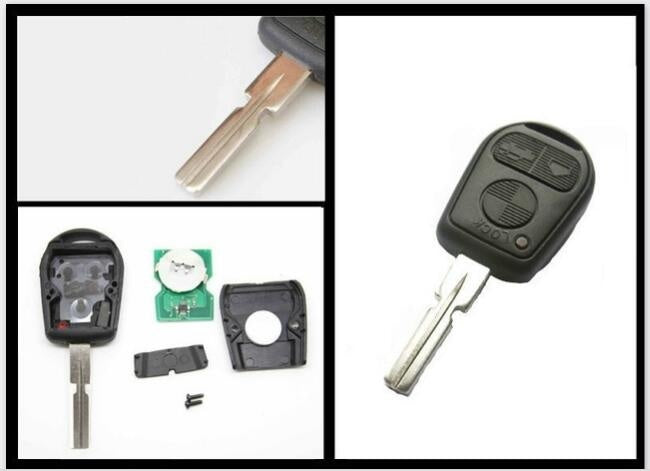 3 Button Remote Key FOB With Blank Blade HU58 For BMW 3 5 7 X5 X3 Z4 E38 E39 E46 433MHz ID44 Chip - Car Diagnostic Tool