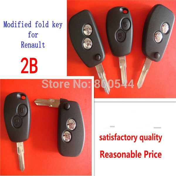 High Qaulity modified key shell for renault 2 button VAc102 key balde