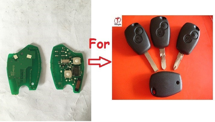 High Quality 2 Button Remote Key PCB For Renault PCF7947 chip 433mhz