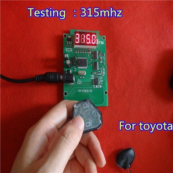 Remote Frequency Tester Remote Control Digital Frequency Test Tool with 9V battery.fast check key frequency