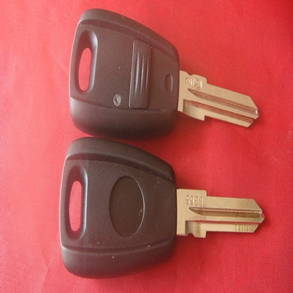 wholesale black plastic car key for Fiat 1 button remote key shell key