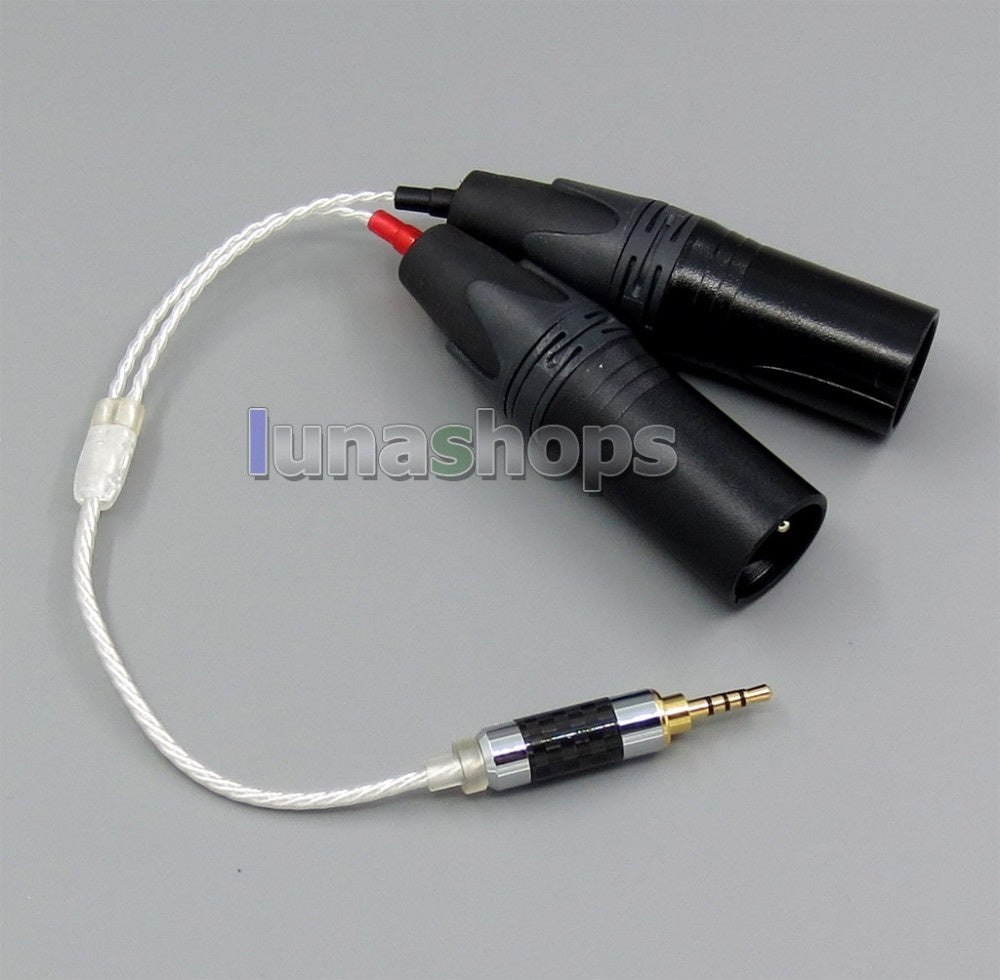 TRRS 2.5mm Balanced To 3pin XLR Male Audio Silver Cable For IRIVER AK240 AK320 AK120 AK100 ii AK380 LN005241