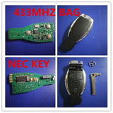 For Mercedes NEC KEY BAG KEY FOR BENZ Keyless Entry Smart Remote Key 3 Button 433MHz NEC Chip for Mercedes-Benz 2000+