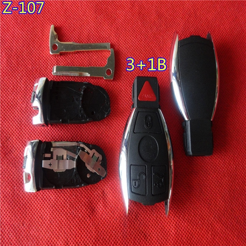 Benz key 4 button .3+1 button with Panic button case with battery holder +key blade - Car Diagnostic Tool