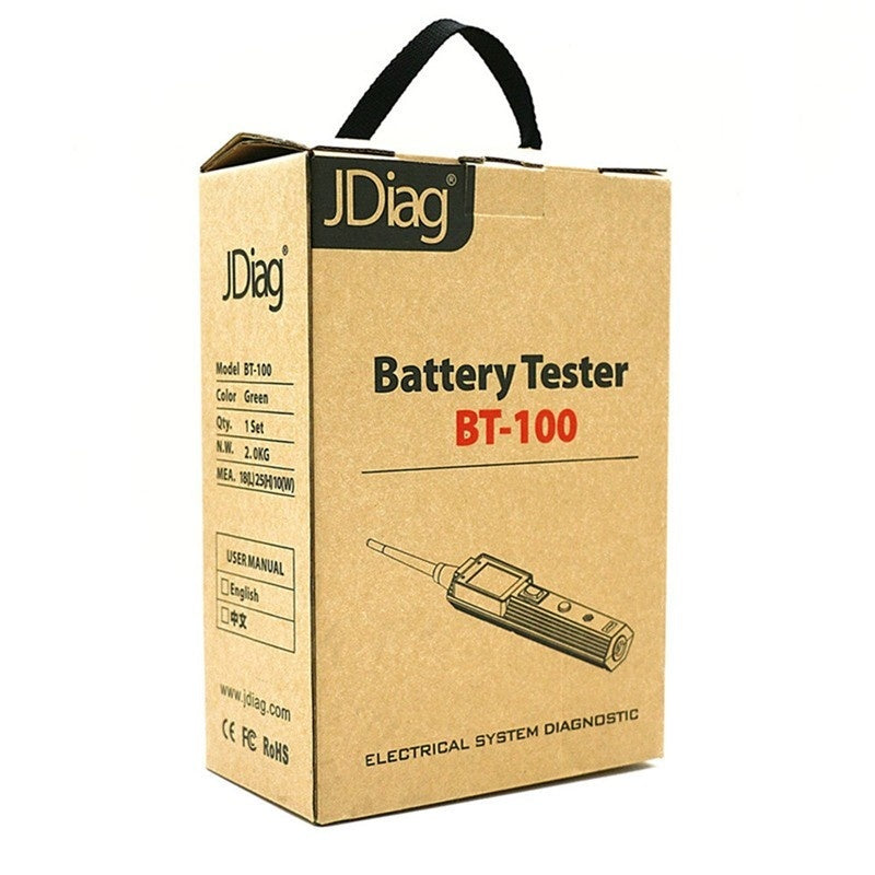 JDiag BT-100 Battery Tester BT100 Electrical System Circuit Tester With Automotive Tools /Auto Voltage Vgate PT150