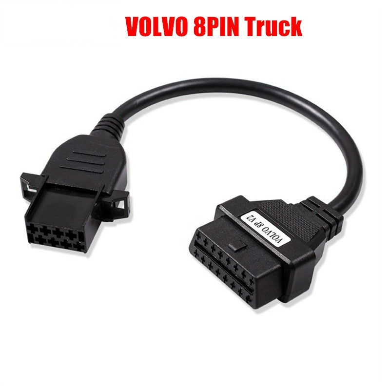 Fits Volvo 8Pin Cable For Volvo Truck Heavy Duty Diagosis Connector OBD OBD2 Truck Cable Adapter For VOLVO 8 Pin