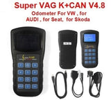 High quality 4.8 Super VAG K+CAN Plus v4.6 English Spanish car Diagnostic Tool