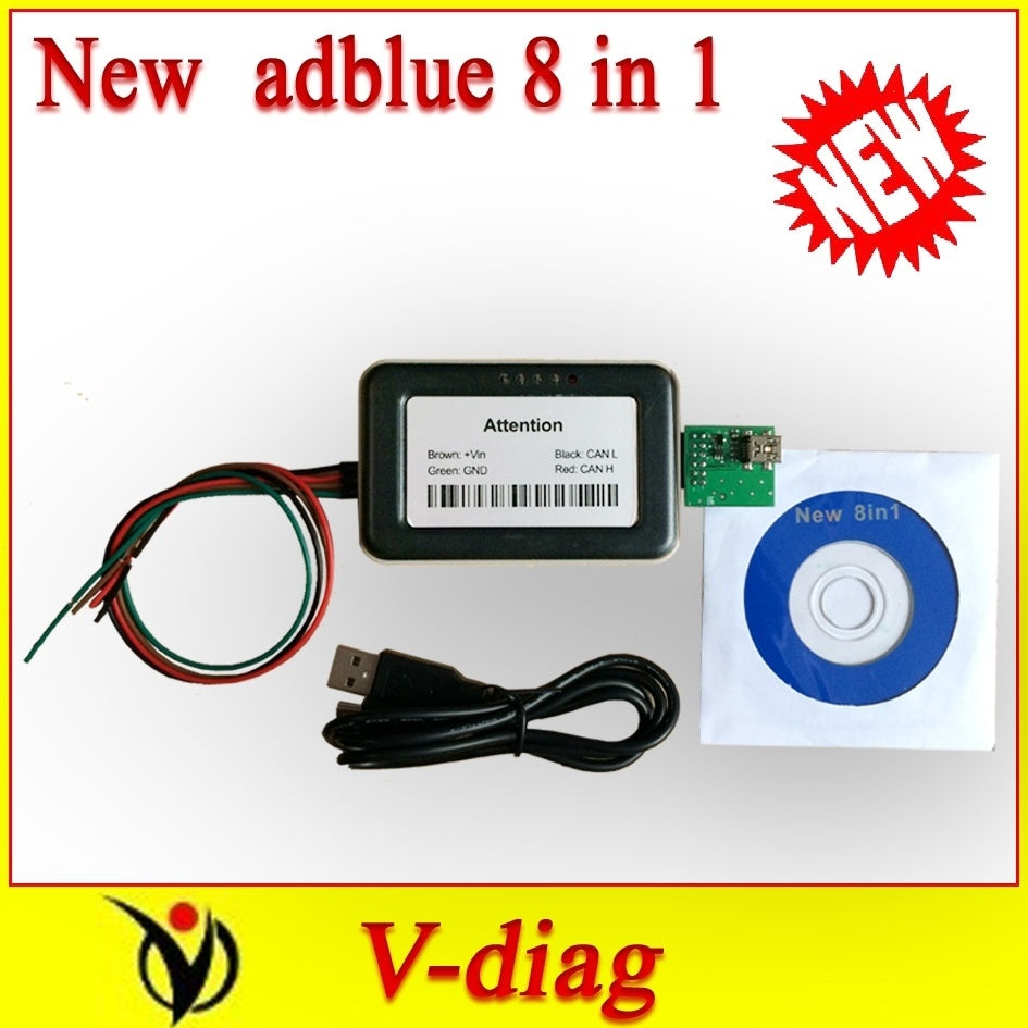 New for Trucks vd400 adblue 8in1 V3.0 For Volvo Renault Scania Iveco DAF MAN and Ford AdBlue Emulator 8 IN 1 euro 6