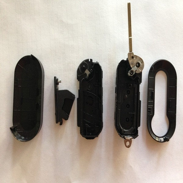 Fiat 3 button flip folding remote key shell with key blade SIP22