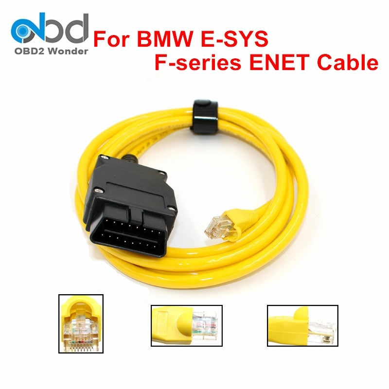 Professional ESYS ICOM For BMW ENET F-Series ENET Ethernet to OBD Interface Data Cable E-SYS ICOM Coding