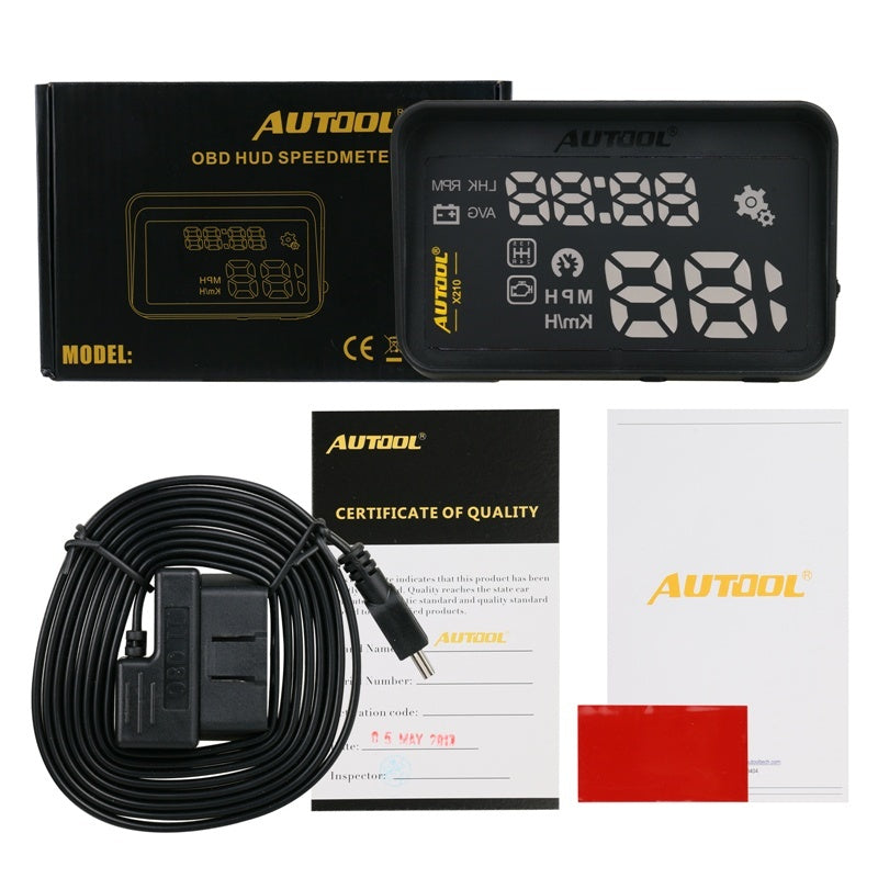 X210 Auto HUD Car Head-Up Show Warning Device with Anti-slip Pad