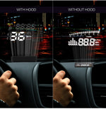 Official  X220 Auto Car Head-Up Display Projector OBD II Vehicle Speeding Warning With Hood Clear Projection
