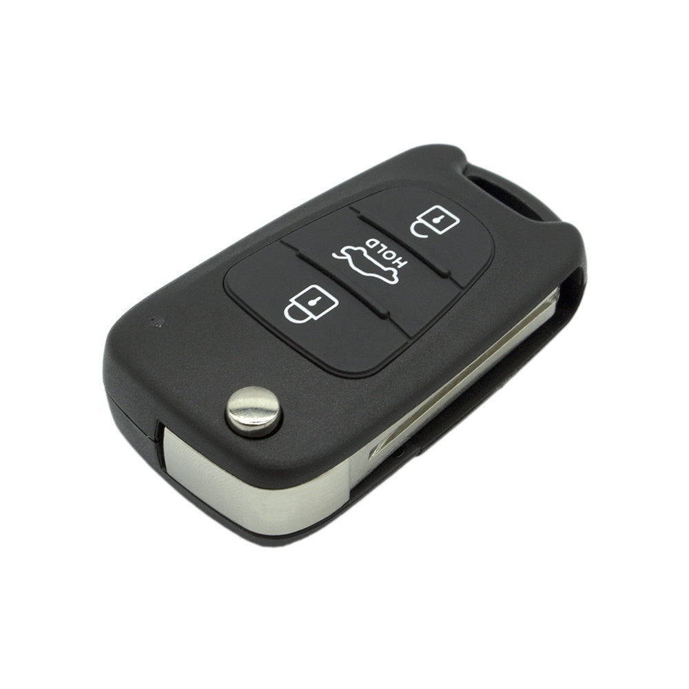 3 Button Remote Folding Flip Key Shell Case For Hyundai I20 I30 I35 Avante Solaris KIA Rio Ceed Sorento Sportage K2 K5 - Car Diagnostic Tool