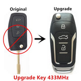 Upgrade Car Remote Key for Ford Focus C-Max D-Max Mondeo Fiesta FO21 Blade 433MHz