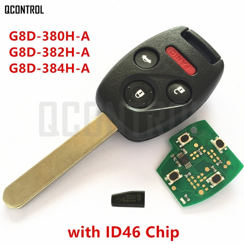 Car Remote Key Work for Honda for Accord Element CR-V FIT HR-V City Odyssey Shuttle Civic 4 Buttons + ID46 Immobilizer - Car Diagnostic Tool