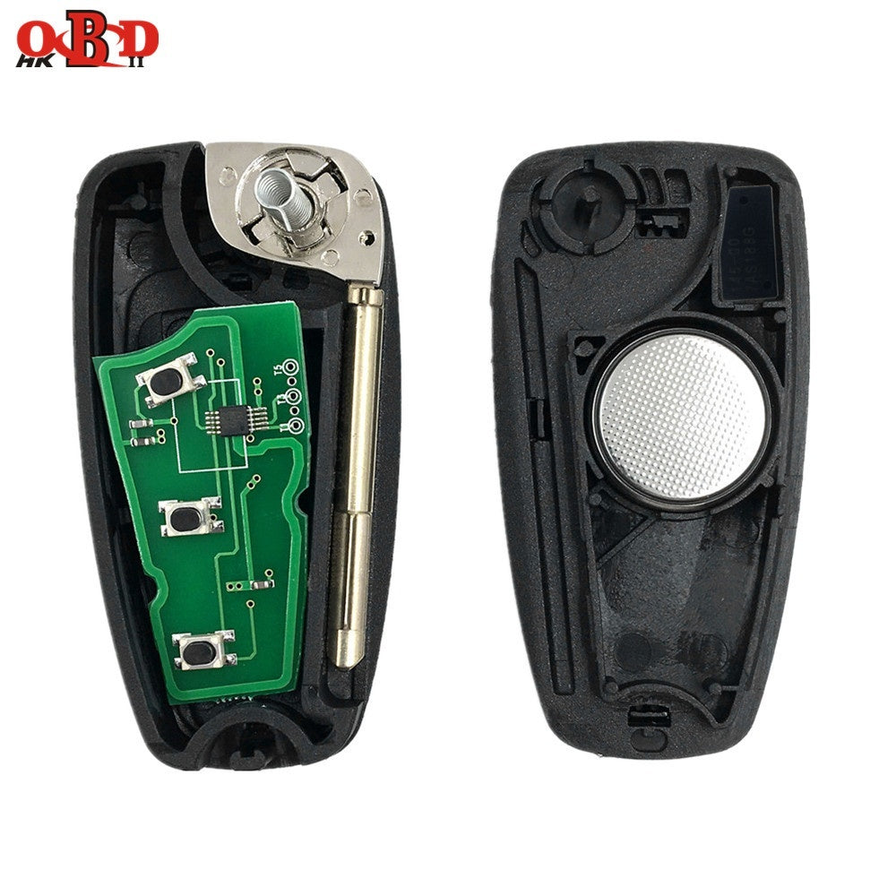 Hot! 433MHZ 4D60 Chip For FORD Focus Mondeo Fiesta Folding Flip Remote Car Key With F021 Blade
