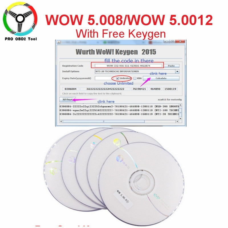 Newly Wow Snooper Free Keygen Wow 5.00.12/ 5.00.8 Optional As Gift WOW Snooper Multi-langauges Support For Car/Truck Fast Send