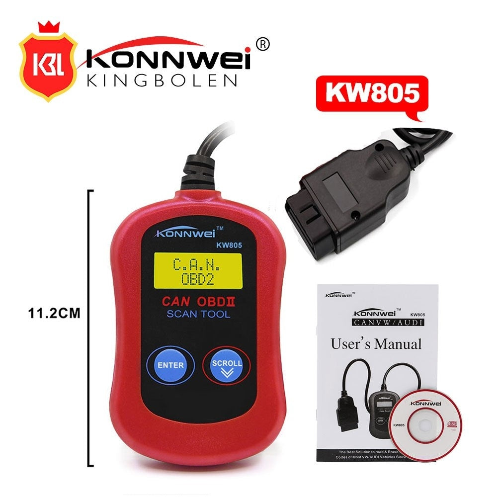 KW805 Car Code Reader CAN BUS OBD2 OBDII Diagnostic Tool MS300 OBD2 KW805 Automotive Tool supports ALL OBDII Protocols