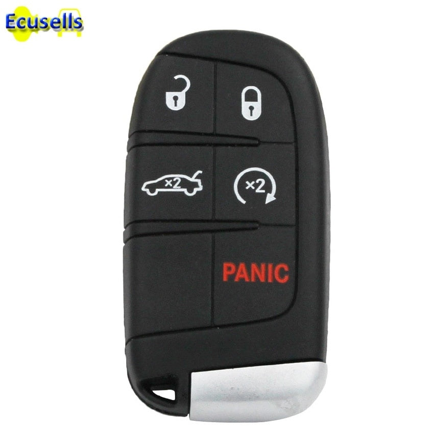 New Keyless 5 buttons Smart Remote Key Case for Dodge Journey Charger Dart Durango for chrysler 300 for Jeep 4+1 Buttons