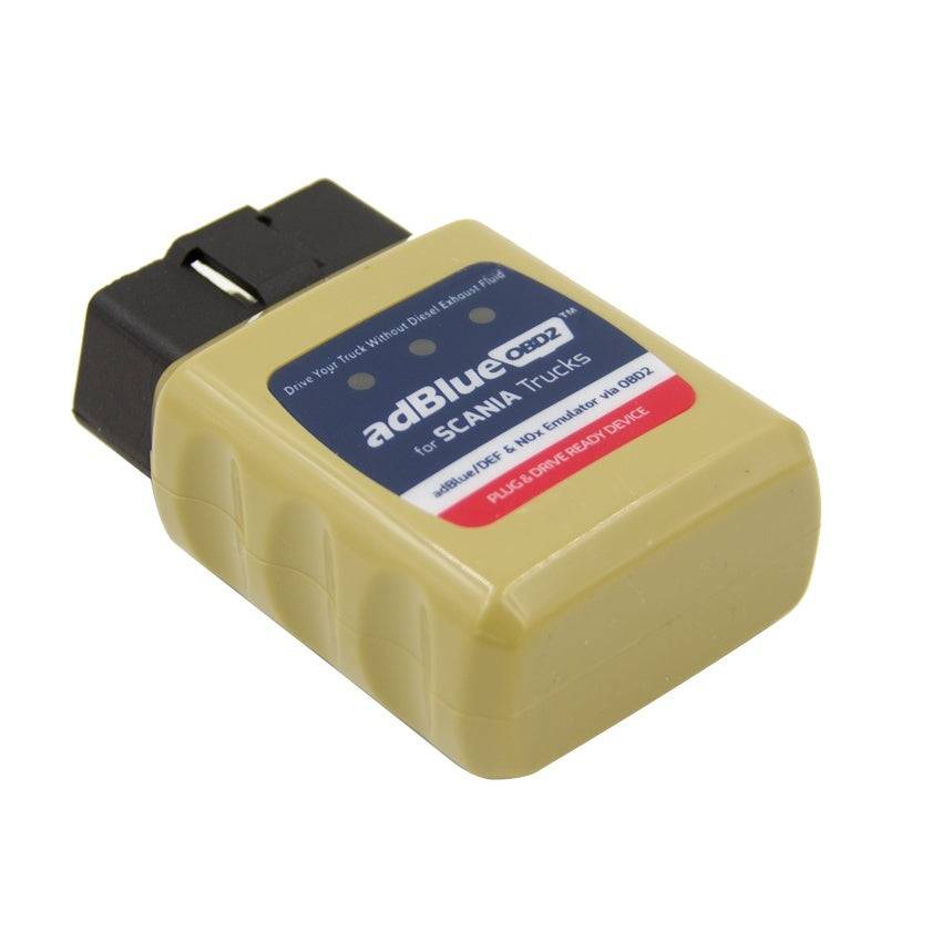 AdblueOBD2 for SCANIA Trucks AdblueOBD2 for SCANIA adBlue/DEF and NOx Emulator via OBD2 Plug and Drive Ready Device - Car Diagnostic Tool