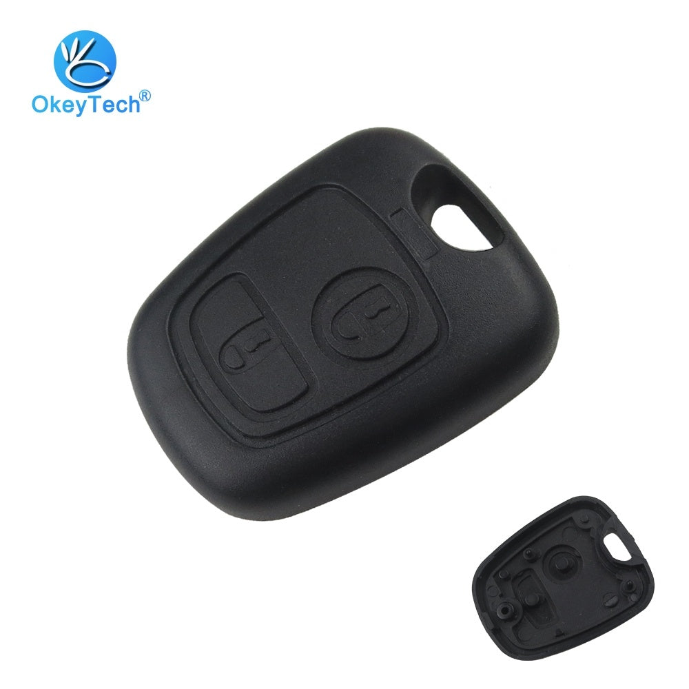for Peugeot 107 206 207 306 307 407 Citroen Key Shell Front Car Key Fob Replacement 2 Button Remote Blank Cover Case