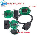 VAG Com v 1.4 commander k+can OBD 2 USB Scanner work on Windows Software