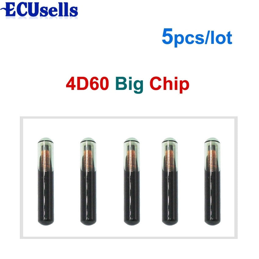 5pcs/lot High Quality 4D 60 GLASS Transponder Chip 4D60 Fit For Connect Fiesta Focus 2002-2008 Ka 2001-2007 Mondeo - Car Diagnostic Tool