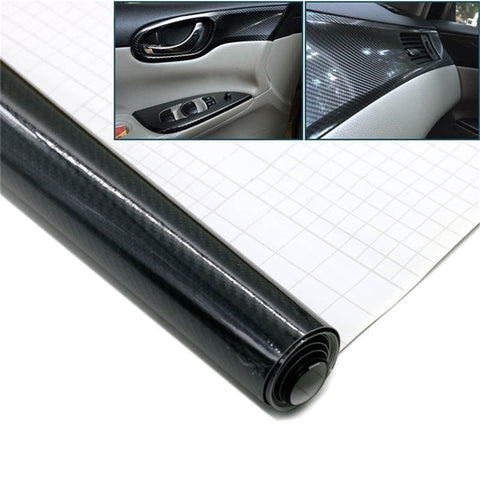 152x50cm 5D High GLOSS Carbon Car Styling Car Sticker Wrap Roll Waterproof Auto Car Decor Sticker 1 scraper Gift - Car Diagnostic Tool