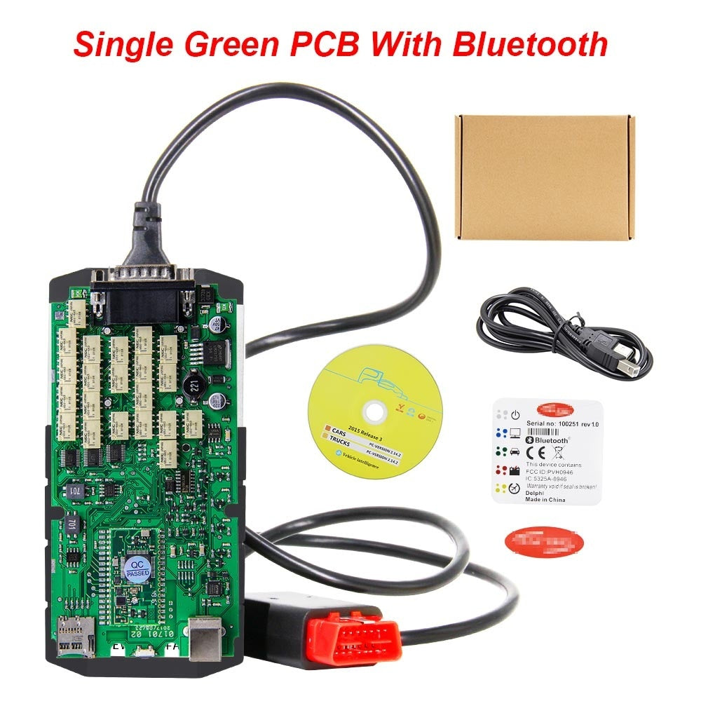 Green Single Board V2016.R1 TCS CDP PRO 2015.R3 with Keygen Bluetooth OBD OBD2 Cars and Trucks Diagnostic Scanner Tool