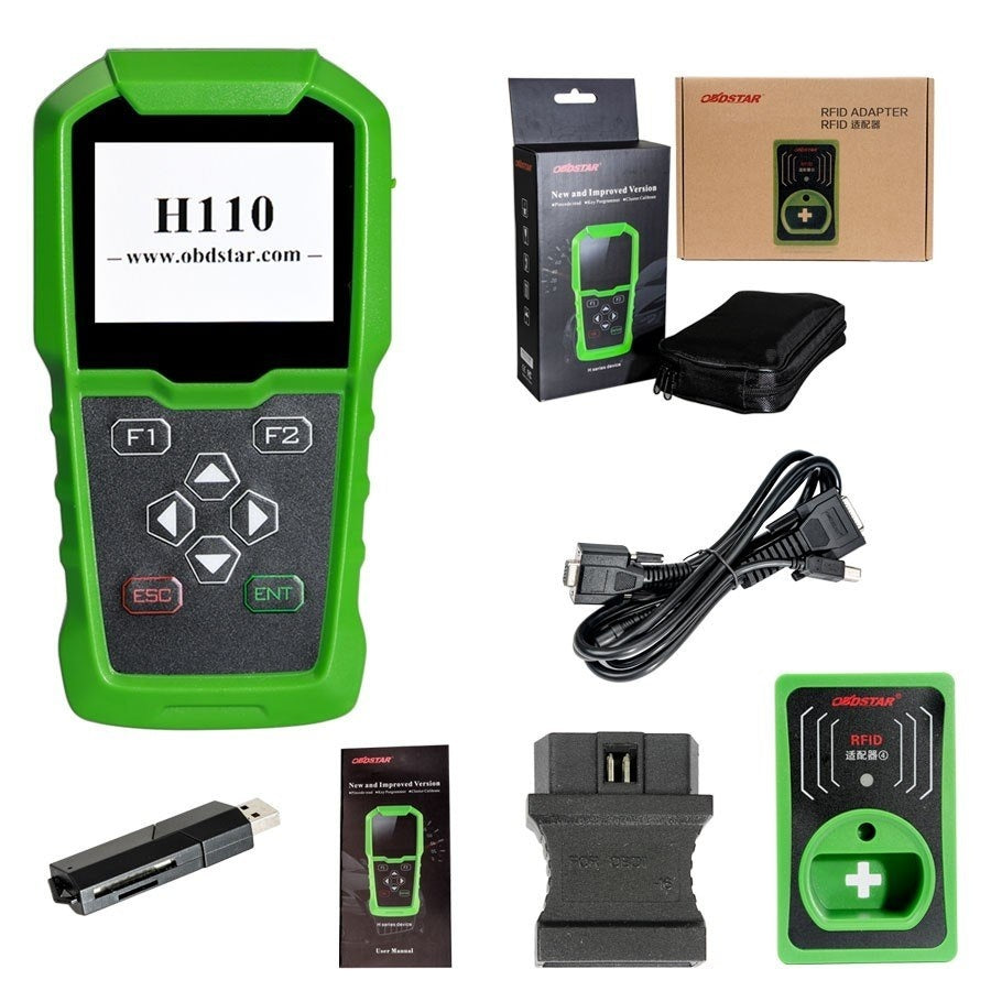 OBDSTAR H110 I+C for MQB IMMO+KM Tool Support NEC+24C64 and 4th 5th IMMO for Audi/SKODA/SEAT with RFID ADAPTER