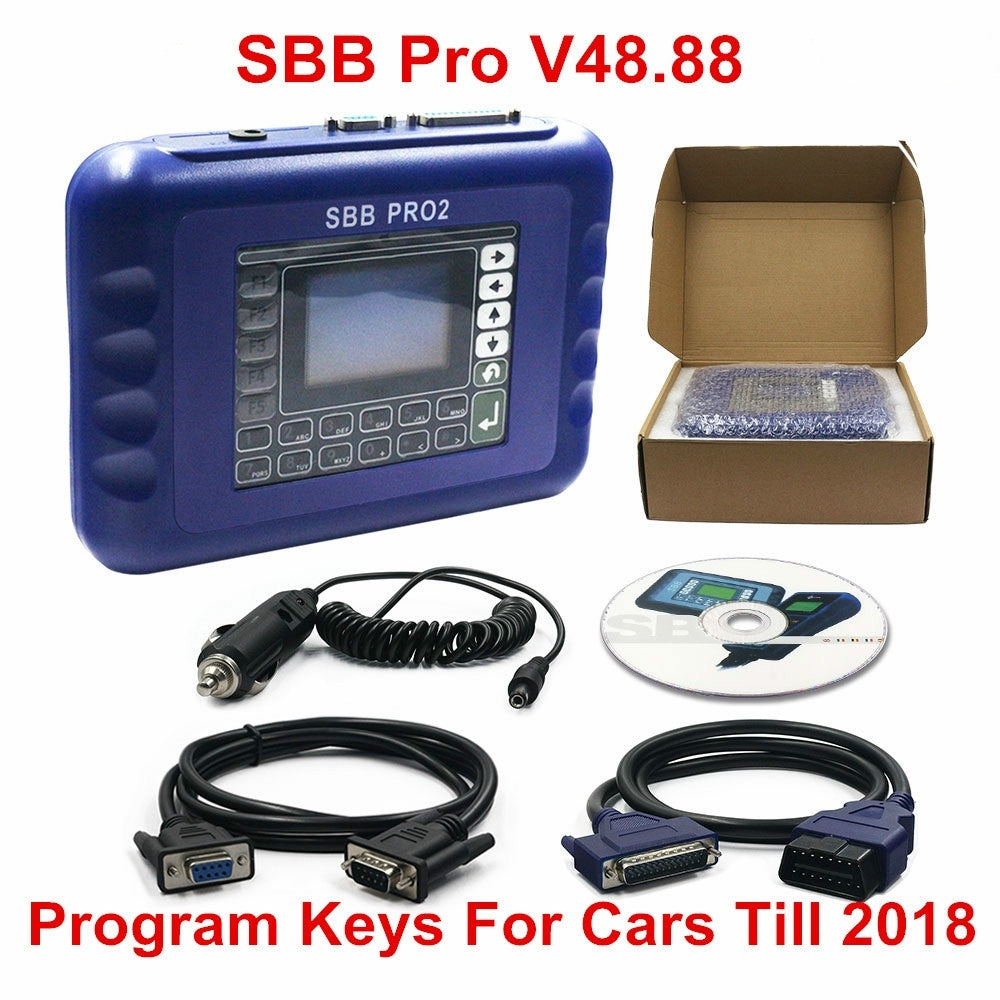 New SBB V48.88 SBB Pro2 OBDII Key Programmer Auto Key Transponder SBB Pro 2 48.88 Update of 46.02 Pin Code Function