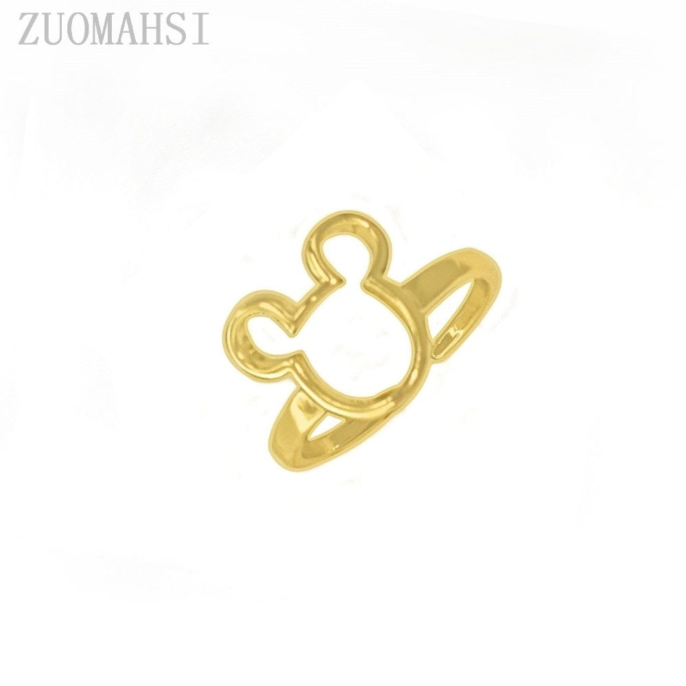 New Arrival Valentine's Popular New Cute Romantic Mickey Ring For Ladies Wedding Finger Rings Gift Original Fine Jewelry