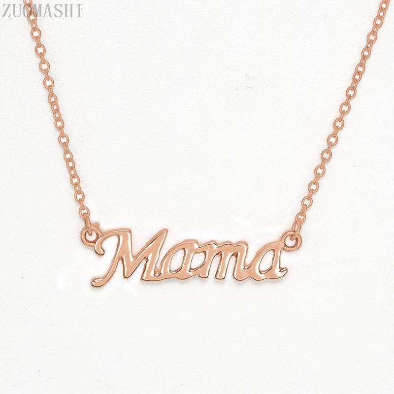 Mama Pendant Necklace Love Gift For Mom Mum Mother Grandmother Delicate Word Jewelry Mother's Day Gift Letter Mama Necklace
