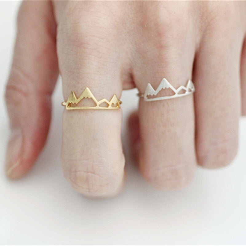 hot selling mountain ring fashion adjustable gold ring for women wholesale Cute Mountains Ring, Snow Mountain Ring
