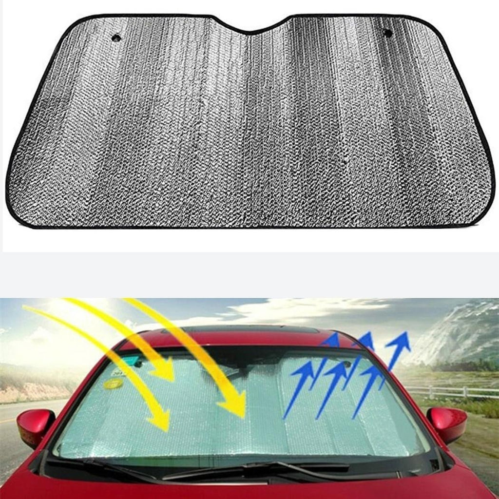 Foldable Front Rear Windshield Car Window Silver Sun Visors 58g Square Sunshade Cover Block drop shipping