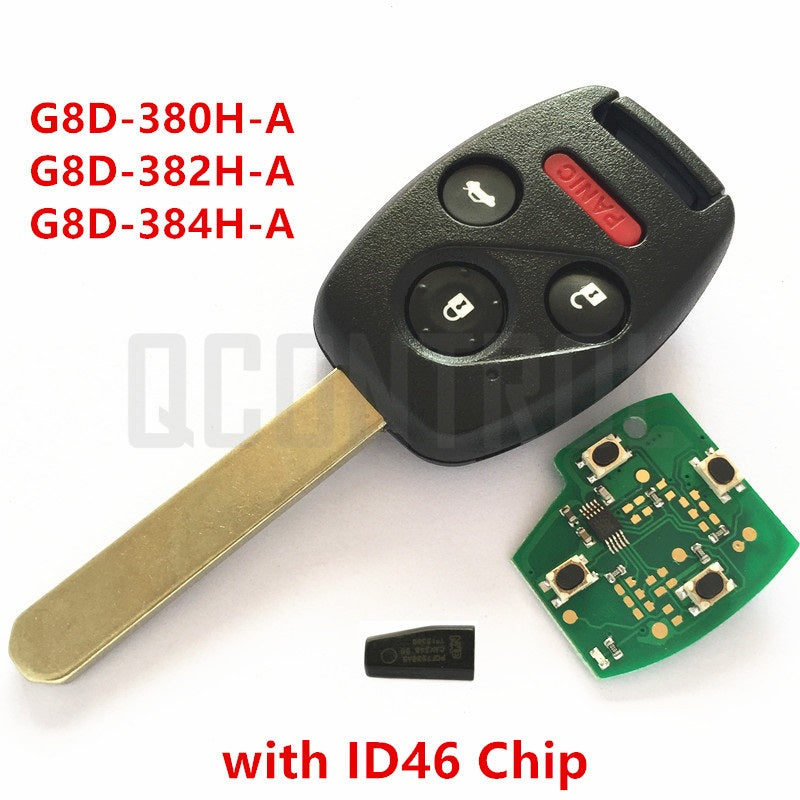 Car Remote Key for Honda 4 Buttons + ID46 Immobilizer - Car Diagnostic Tool