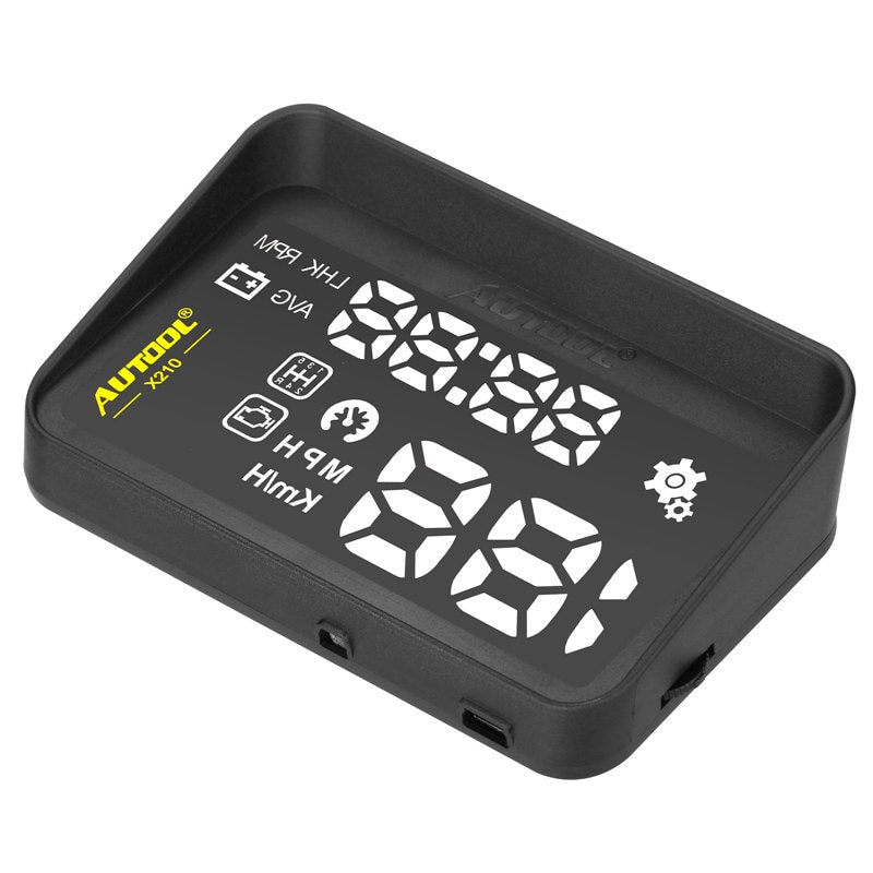 AUTOOL X210 Auto HUD OBD II Speed Show Warning Device with Anti-slip Pad - Car Diagnostic Tool