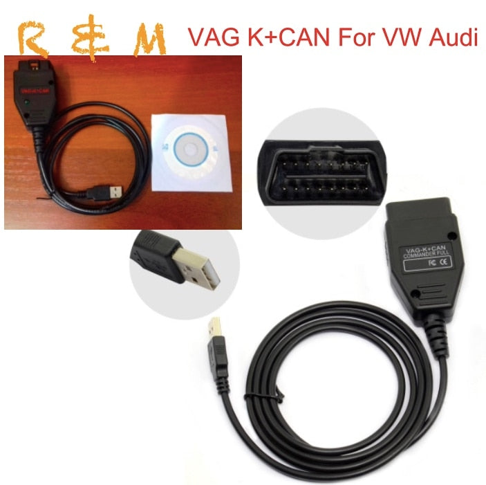Better than VCDS Vag K can commander 1.4 obd2 Diagnostic Interface Com Cable Vag K+Can for V.W. A-udi S-koda fast and free ship - Car Diagnostic Tool