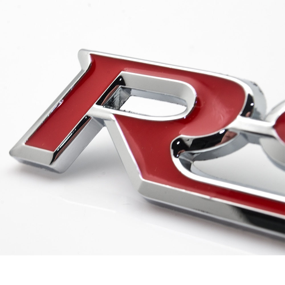Car-styling Word letter 3D RS Logo Car Sticker SPORT Emblem Badge Door Decal Auto Accessories for Audi