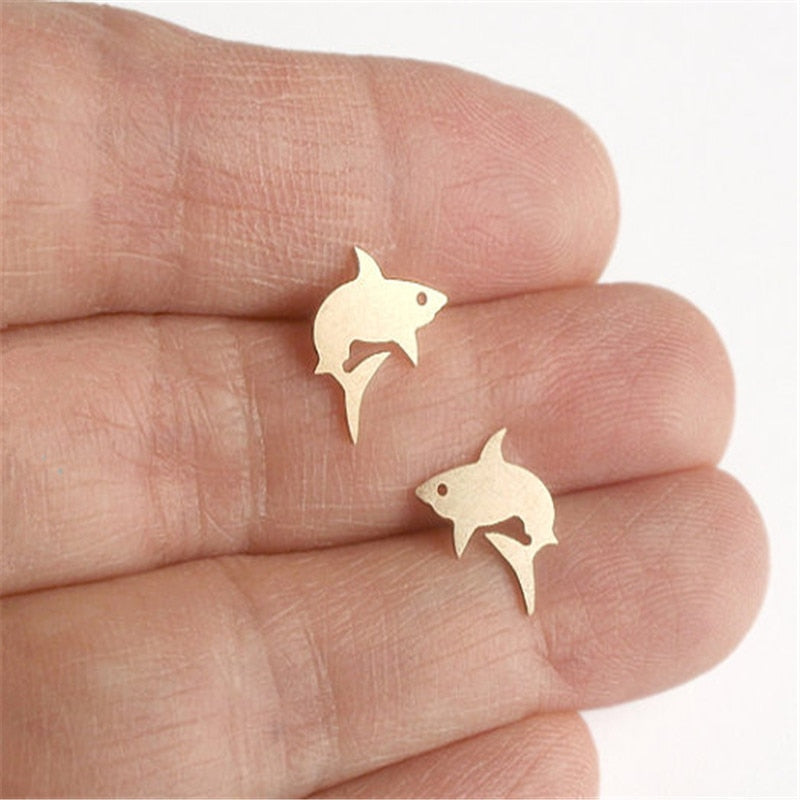 Cute Shark Earring studs for Women Animal earings fashion jewelry