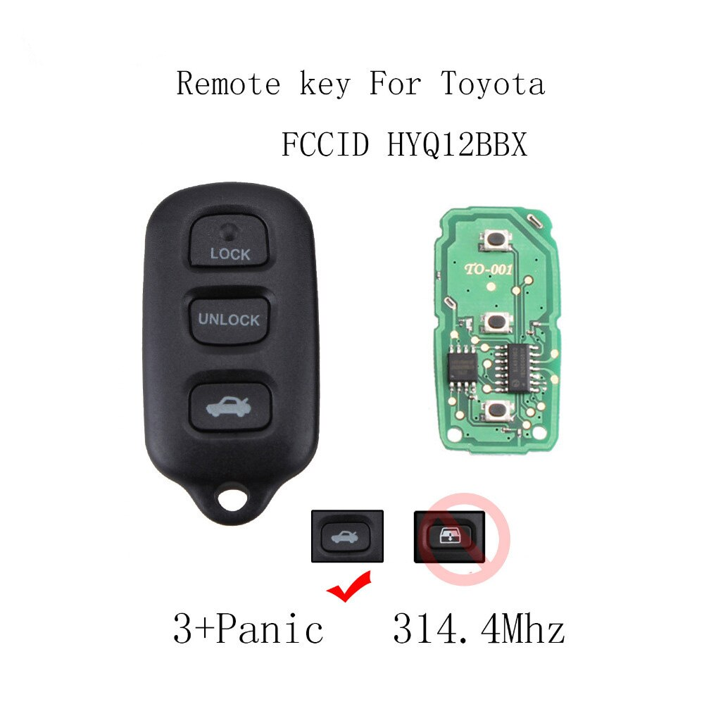 2/3 Buttons Remote Car key For Toyota Sequoia 2001 2002 2003 2004 2005 2006 2007 2008 For Toyota HYQ12BBX HYQ12BAN Original key - Car Diagnostic Tool