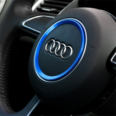 Aviation aluminum alloy Car Steering wheel decoration ring sticker logo Decals Car styling for Audi A3 A4L Q3 Q5 A5 A6L - Car Diagnostic Tool