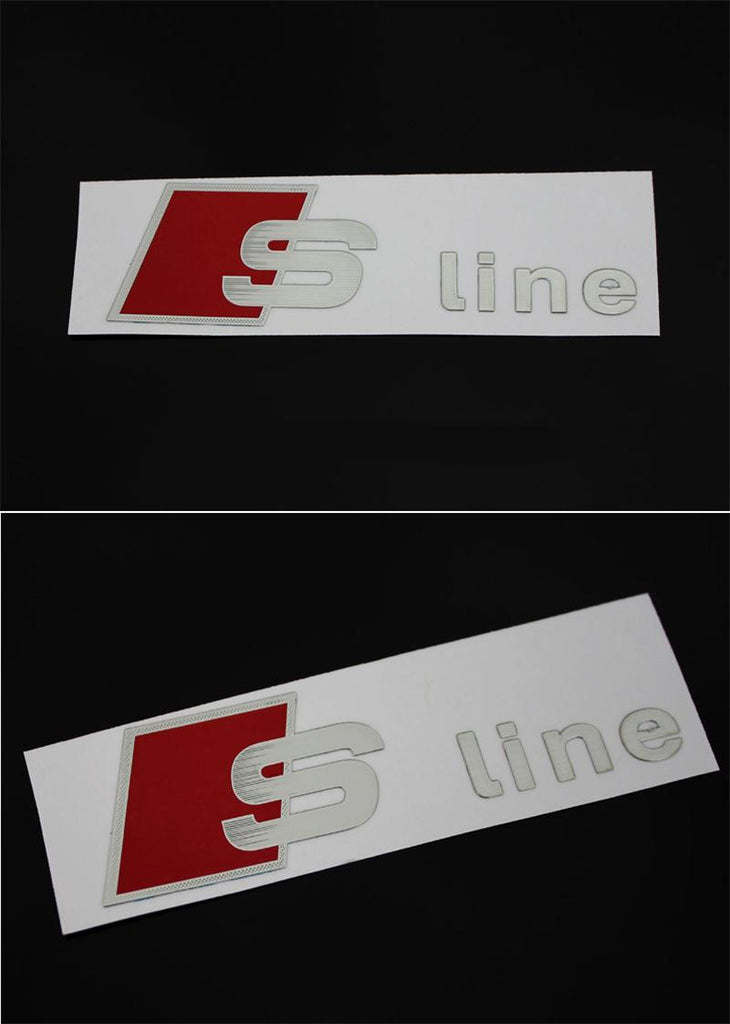 Metal Car Door/window Emblem Sline Stickers For Audi RS Sports