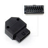 Universal OBDII OBD2 16Pin Female Connector With Enclosure